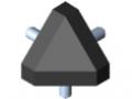 Kit raccord 8 40x40-45°, noir