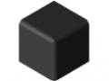 Verbinder-Abdeckkappe 8 40x40x40, schwarz