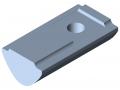 Tassello scorrevole 8 acciaio/PA M4, nero