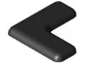 Abdeckkappe 8 W40x40 E, schwarz