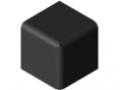 Cache raccord 6 30x30x30, noir
