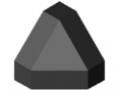 Cache raccord 6 30x30-45°, noir