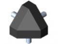 Kit raccord 6 30x30-45°, noir
