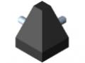 Set di collegamento 8 40x40-2x45°, nero