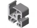 Profilato di bloccaggio 8 40x40 E, naturale