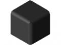 Cache raccord 5 20x20x20, noir