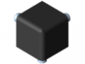 Verbindungssatz 5 20x20x20, schwarz