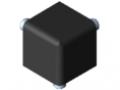Kit raccord 5 20x20x20, noir