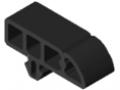 Profilato di protezione 8 40x16 R16, nero