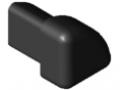 Calotta di copertura del profilato di protezione 8 R16-90°, nero