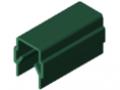 Profilato di copertura ed intelaiatura 8, verde simile a RAL 6016
