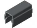 Profilato di copertura ed intelaiatura 8, grigio simile a RAL 7042