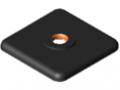 Fußplatte Profil St 8 40x40 M8, schwarz