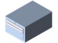 Schubladenschrank S2 H283, grau ähnlich RAL 7042