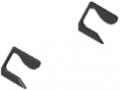 Set calotte profilato per maniglia piegata X, nero