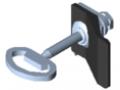 Verschlusssystem 8, Doppelbartschloss mit Griff, linksschließend