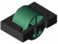 Insert à galet D30, vert de sécurité semblable RAL 6032