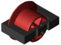 Rolleneinsatz D30 mit Bordscheibe, signalrot ähnlich RAL 3001