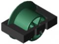Rolleneinsatz D30 mit Bordscheibe, signalgrün ähnlich RAL 6032