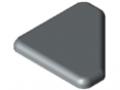 Abdeckkappe 8 40x40-45°, grau ähnlich RAL 7042