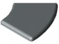 Abdeckkappe 8 R40/80-45°, grau ähnlich RAL 7042