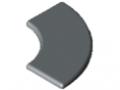 Abdeckkappe 8 R40/80-90°, grau ähnlich RAL 7042