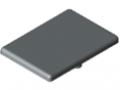 Cache équerre 8 40x40, gris semblable RAL 7042