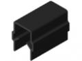 Profilato di copertura ed intelaiatura 10 ESD, nero