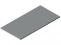 Piani per tavoli 25-1500x750 plastificato, grigio simile a RAL 7035