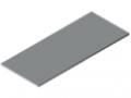 Plans de travail 25-1800x750 revêtement plastique, gris semblable RAL 7035