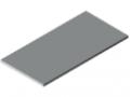 Piano per tavolo 30-1200x600 HPL-plastificato, grigio simile a RAL 7035