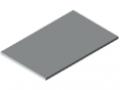 Piano per tavolo 30-1200x750 HPL-plastificato, grigio simile a RAL 7035