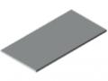 Piano per tavolo 30-1500x750 HPL-plastificato, grigio simile a RAL 7035