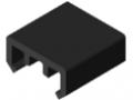 Gleitleiste D30 ESD, schwarz ähnlich RAL 9005