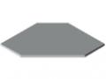 Plans de travail TRIGO 25-600 revêtement plastique, gris semblable RAL 7035