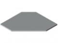 Tischplatte TRIGO 30-750 ESD HPL, grau ähnlich RAL 7035