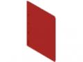 Infotasche DIN A4, magnetisch, rot