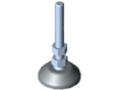 Piedino di regolazione D40, M8x80, grigio simile a RAL 7042