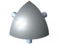 Set di collegamento 8 R40-90°, grigio simile a RAL 7042