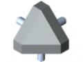 Set di collegamento 8 40x40-45°, grigio simile a RAL 7042