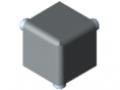Verbindungssatz 5 20x20x20, grau ähnlich RAL 7042