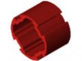 Tube profilé D30, rouge semblable RAL 3020