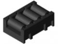Insert à galets 4xD11, noir semblable RAL 9005