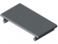 Deckelprofil D40 K, grau ähnlich RAL 7042
