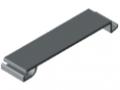 Blocage 80 goulotte K, gris semblable RAL 7042