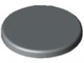 Abdeckkappe Profilrohr D30 schwer, grau