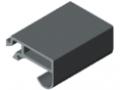 Profilato di tenuta per porte T1 - XMS, grigio simile a RAL 7042
