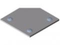 Calotta X 8 120x120-45°, alluminio