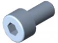 Vite a testa cilindrica DIN 912 M4x8, zincato