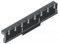 Lagerschiene 100 D4-12,5, grau ähnlich RAL 7042